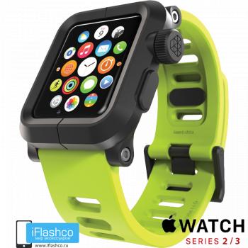 Чехол Lunatik EPIK для Apple Watch 42 мм Green черный / зеленый
