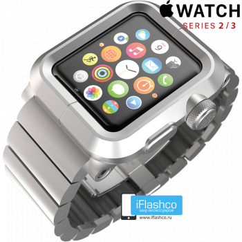 Чехол Lunatik LYNK Silver для Apple Watch 42мм серебристый