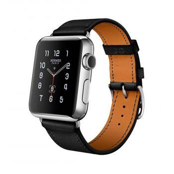 Кожаный ремешок Hermès Fauve Barenia Leather Single Tour для Apple Watch 42 - 44 мм черный