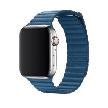 Кожаный ремешок Apple Leather Loop Cape Cod Blue для Apple Watch 42 - 44 мм синий