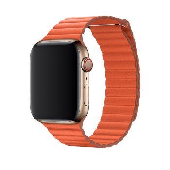 Кожаный ремешок Apple Leather Loop Sunset для Apple Watch 42 - 44 мм оранжевый
