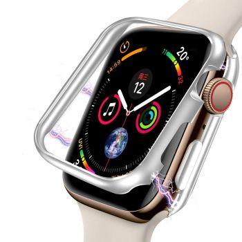 Защитный магнитный чехол Uniya для Apple Watch Series SE / 6 / 5 / 4 (40 мм) Silver