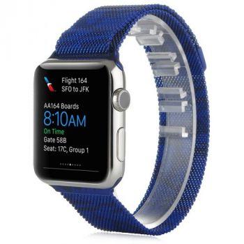 Металлический плетёный ремешок Apple Blue Camo Milanese Loop для Apple Watch 42 - 44 - 45 мм