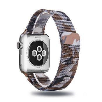 Металлический плетёный ремешок Apple Brown Camo Milanese Loop для Apple Watch 42 - 44mm