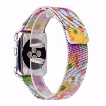 Металлический плетёный ремешок Apple Chrysanthemum Milanese Loop для Apple Watch 42 - 44mm