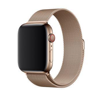 Металлический плетёный ремешок Apple Gold Milanese Loop для Apple Watch 42 - 44mm золотистый