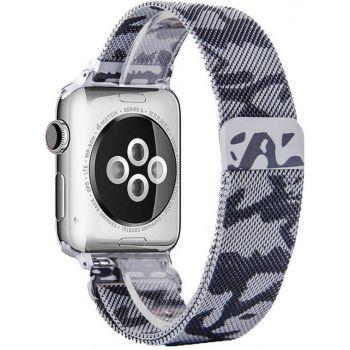 Металлический плетёный ремешок Apple Gray Camo Milanese Loop для Apple Watch 42 - 44mm
