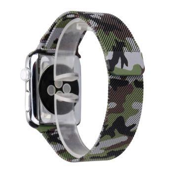 Металлический плетёный ремешок Apple Green Camo Milanese Loop для Apple Watch 42 - 44mm