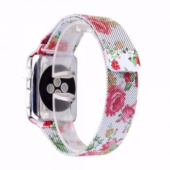 Металлический плетёный ремешок Apple Peony Milanese Loop для Apple Watch 42 - 44mm