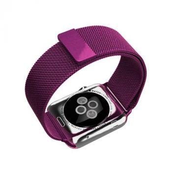Металлический плетёный ремешок Apple Purple Milanese Loop для Apple Watch 42 - 44mm фиолетовый