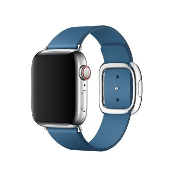 Кожаный ремешок Apple Modern Buckle Cape Cod Blue для Apple Watch 38 - 40 мм синий