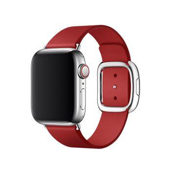Кожаный ремешок Apple Modern Buckle Ruby для Apple Watch 38 - 40 мм красный