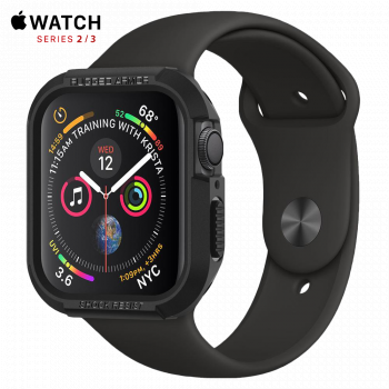 Чехол Spigen Rugged Armor Case для Apple Watch 42 мм Black