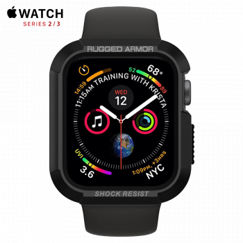 Чехол Spigen Rugged Armor Case для Apple Watch 38 мм Black