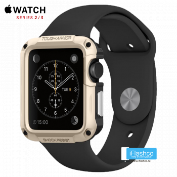 Чехол Spigen Tough Armor Case для Apple Watch 42 мм Champagne Gold