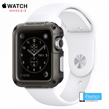 Чехол Spigen Tough Armor Case для Apple Watch 42 мм Gunmetal