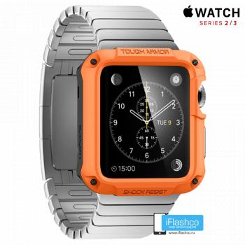Чехол Spigen Tough Armor Case для Apple Watch 42 мм Orange