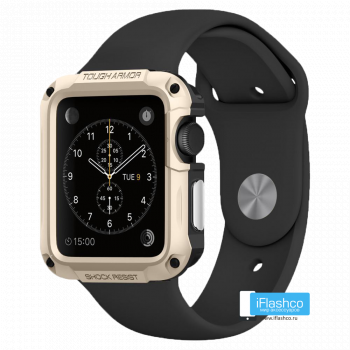 Чехол Spigen Tough Armor Case для Apple Watch Series SE / 6 / 5 / 4 (40 мм) Champagne Gold