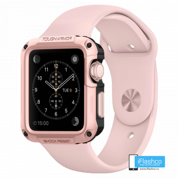 Чехол Spigen Tough Armor Case для Apple Watch 40 мм Rose Gold