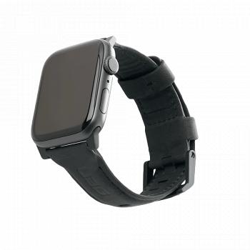 Кожаный ремешок UAG Black Leather Watch Strap для Apple Watch 42 - 44 мм черный