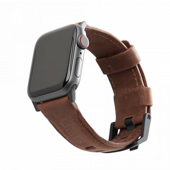 Кожаный ремешок UAG Brown Leather Watch Strap для Apple Watch 42 - 44 мм коричневый