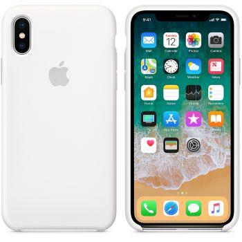 Чехол Apple Silicone Case для iPhone X/Xs White
