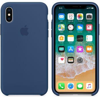 Чехол Apple Silicone Case для iPhone X/Xs Blue Cobalt