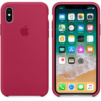 Чехол Apple Silicone Case для iPhone X/Xs Rose Red