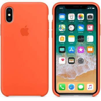 Чехол Apple Silicone Case для iPhone X/Xs Spicy Orange