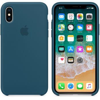 Чехол Apple Silicone Case для iPhone X/Xs Cosmos Blue