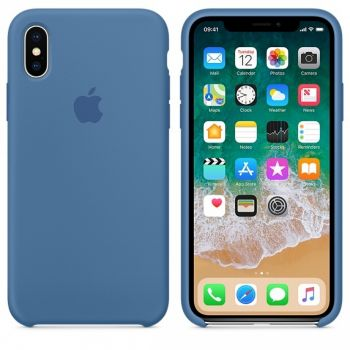 Чехол Apple Silicone Case для iPhone X/Xs Denim Blue