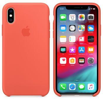 Чехол Apple Silicone Case для iPhone X/Xs Nectarine