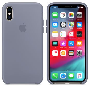 Чехол Apple Silicone Case для iPhone X/Xs Lavender Gray