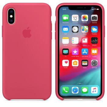 Чехол Apple Silicone Case для iPhone X/Xs Hibiscus