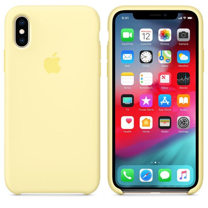 Чехол Apple Silicone Case для iPhone X/Xs Mellow Yellow