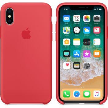 Чехол Apple Silicone Case для iPhone X/Xs Raspberry Red