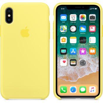 Чехол Apple Silicone Case для iPhone X/Xs Lemonade
