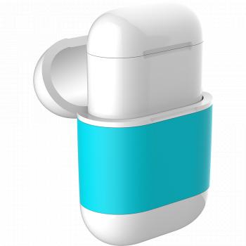 Чехол AirCase A3 для беспроводной зарядки наушников AirPods голубой