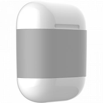 Чехол AirCase A3 для беспроводной зарядки наушников AirPods серый
