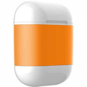 Чехол AirCase A3 для беспроводной зарядки наушников AirPods оранжевый