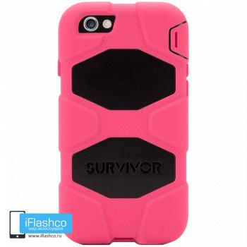 Чехол Griffin Survivor для iPhone 7/8/SE розовый с черным
