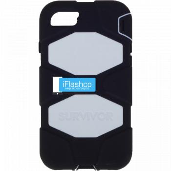 Чехол Griffin Survivor для iPhone 7 / 8 черный с белым