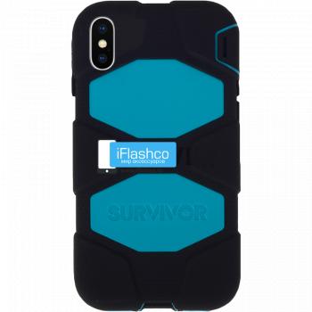 Чехол Griffin Survivor All-Terrain для iPhone X/XS Black / Sea Blue