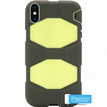 Чехол Griffin Survivor All-Terrain для iPhone X/XS Black / Yellow
