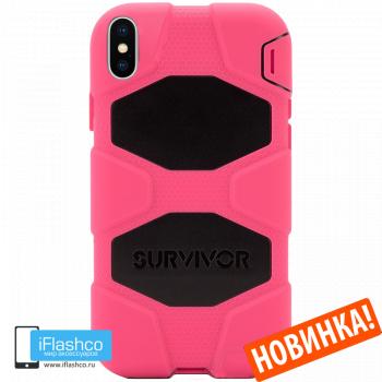 Чехол Griffin Survivor All-Terrain для iPhone X/XS Pink / Black