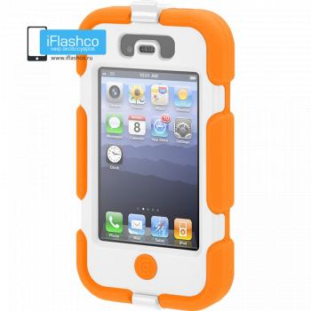 Чехол Griffin Survivor для iPhone 4 / 4S оранжевый с белым