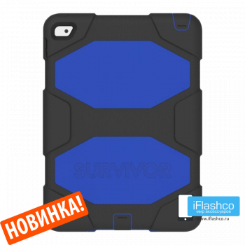 Чехол Griffin Survivor All-Terrain Black / Blue для iPad 2017 - 2018 (5th - 6th Gen) черный с синим