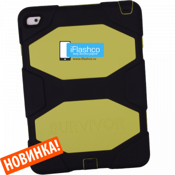 Чехол Griffin Survivor All-Terrain Black / Yellow для iPad 2017 - 2018 (5th - 6th Gen) черный с салатовым