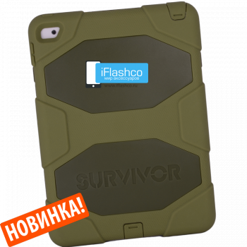 Чехол Griffin Survivor All-Terrain Camo для iPad 2017 - 2018 (5th - 6th Gen) зеленый
