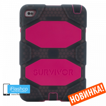 Чехол Griffin Survivor All-Terrain Smoke / Purple для iPad 2017 - 2018 (5th - 6th Gen)